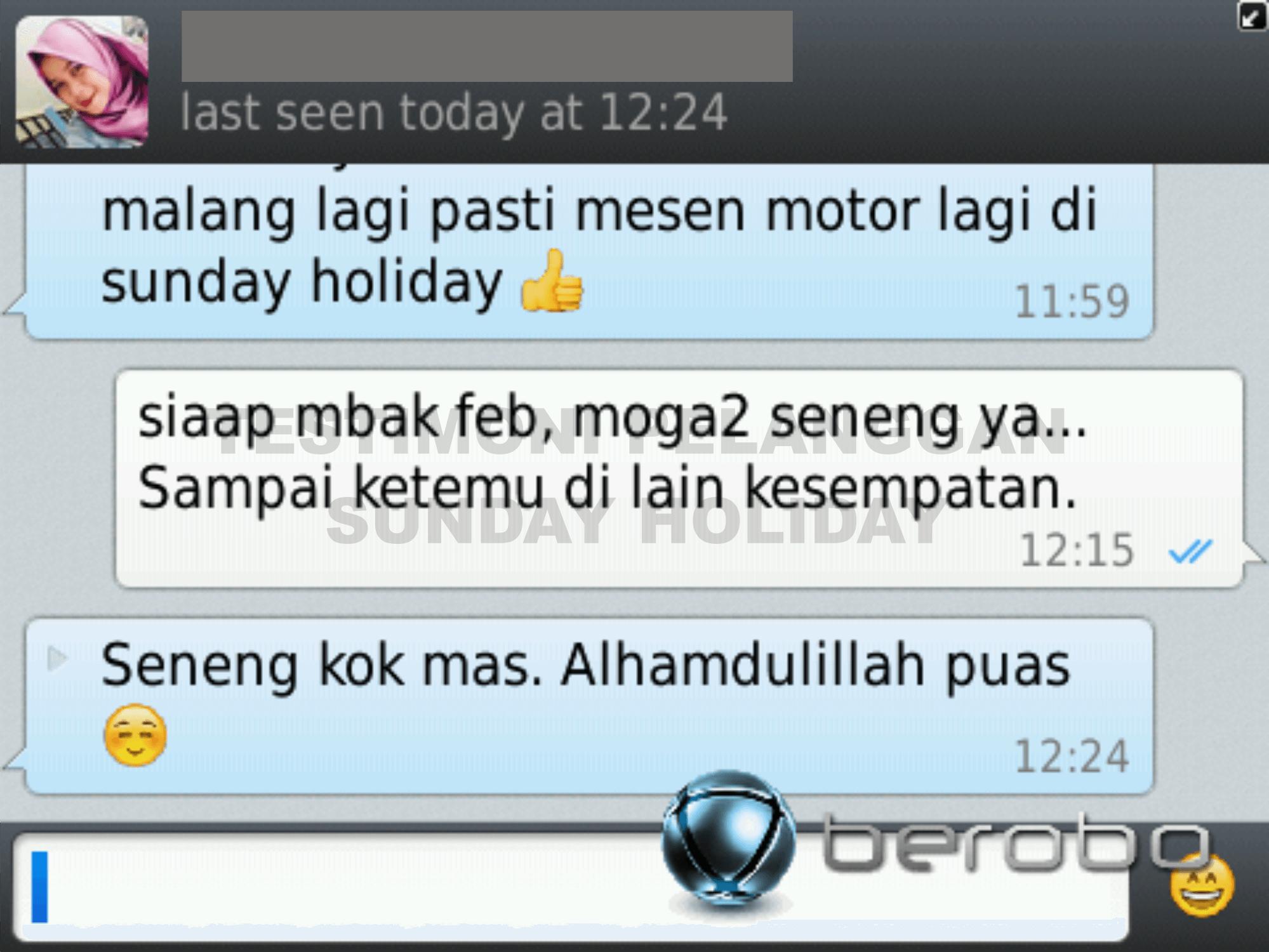 Testimoni Sewa Motor Malang